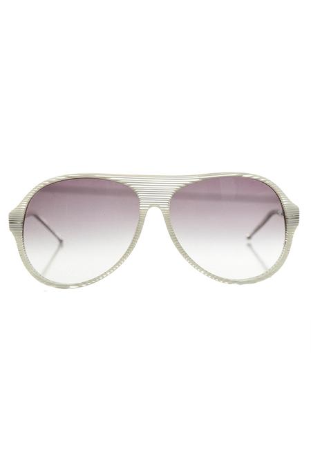 Raf Simons Stripe Aviator Sunglasses - Glacier