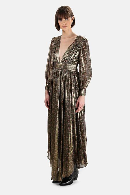 LoveShackFancy Cyrena Dress - Midnight Vine