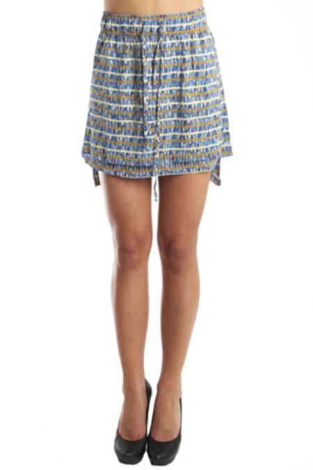 SUNO Apron Skirt - Blue Multi
