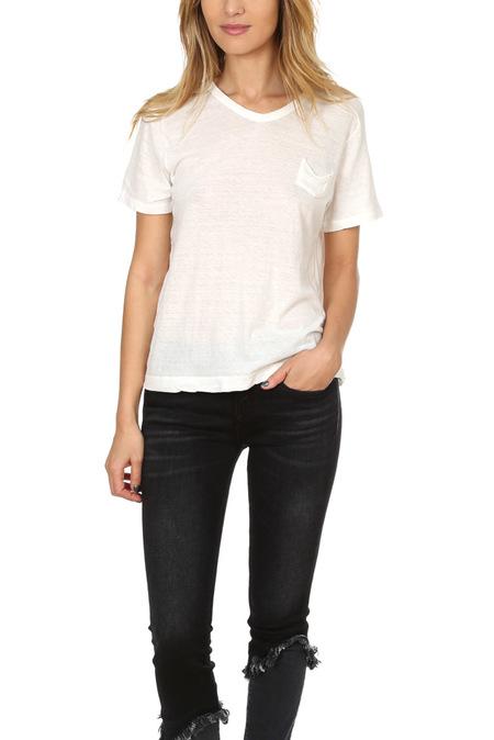 V::Room Melange V Neck Classic T-Shirt - Natural