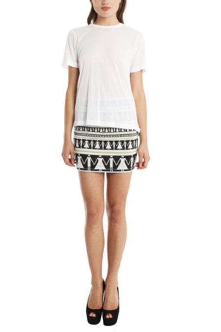 SUNO Elastic Waist Mini Skirt - multi