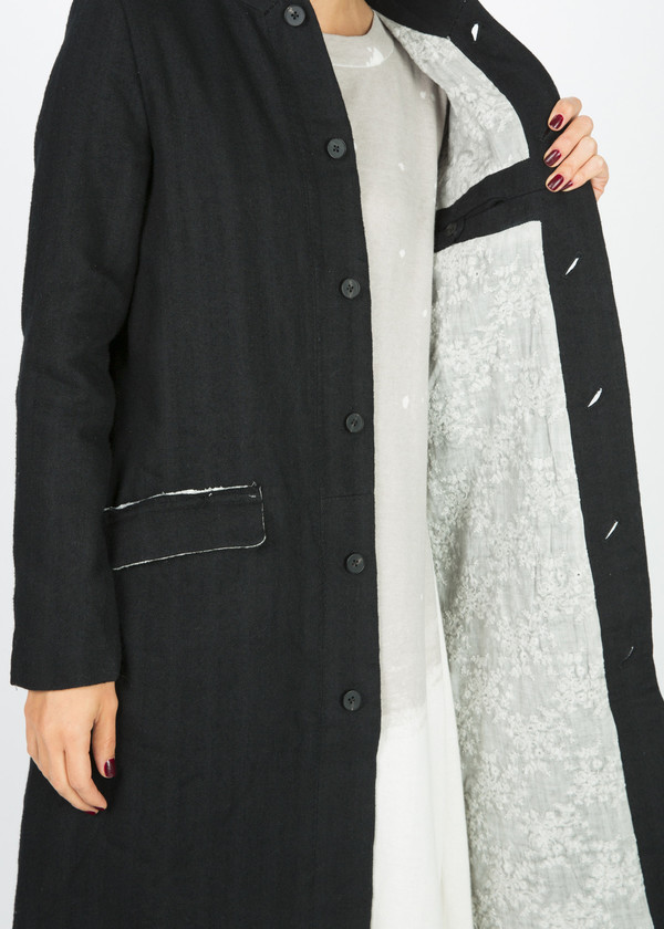 Aleksandr Manamis Lace Lined Trench