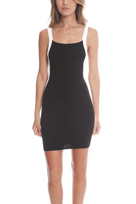 FRANZISKA FOX Open Back Dress - Black/White