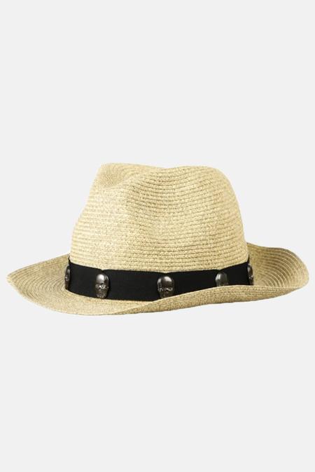 Lucien Pellat-Finet Paper Skull Ribbon Hat - Black