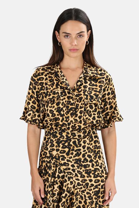 MISA Los Angeles Louise Top - Leopard