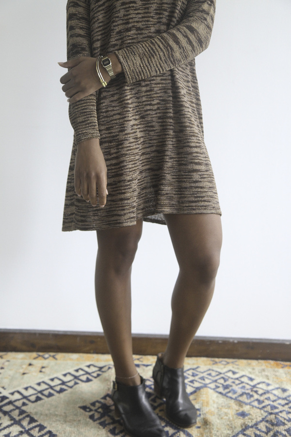 The Shudio Vintage Metallic Spacedye Knit Dress