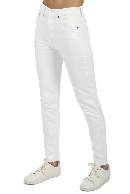 RE/DONE Originals High Rise Ankle Crop Jeans - White