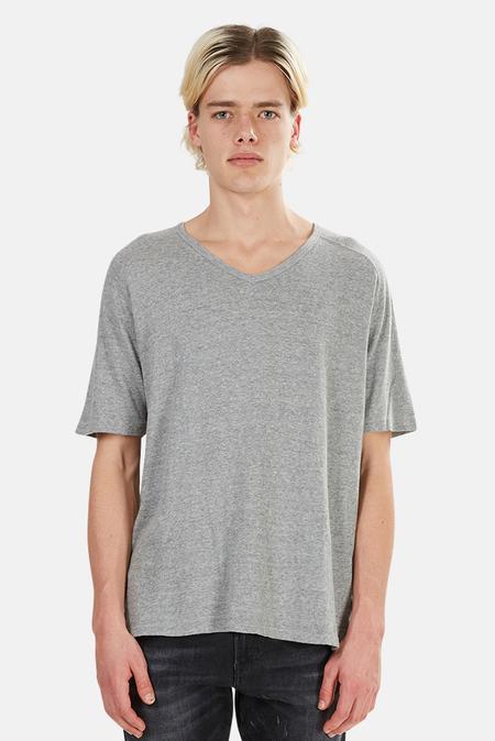 V::ROOM Melange V Neck T-Shirt - Heather Grey