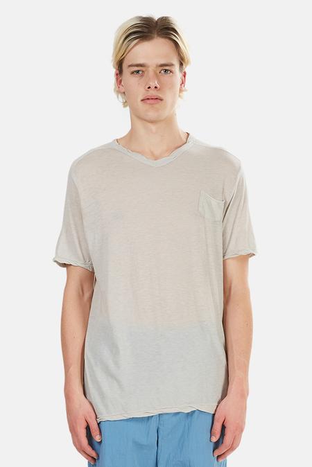 V::ROOM Highsoft V Neck T-Shirt - Light Grey
