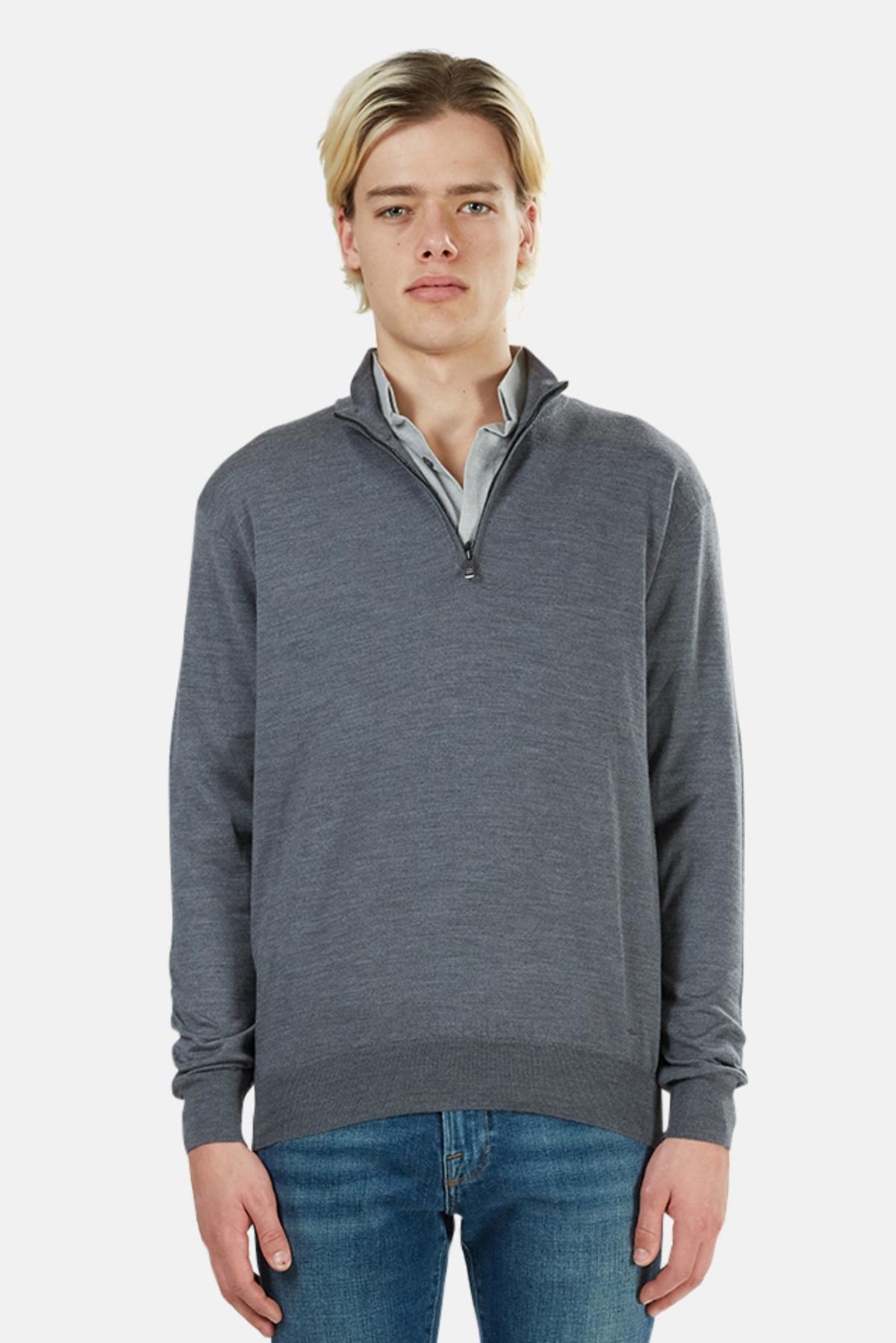 Lee Mens Mock Neck Quarter Zip Sweater