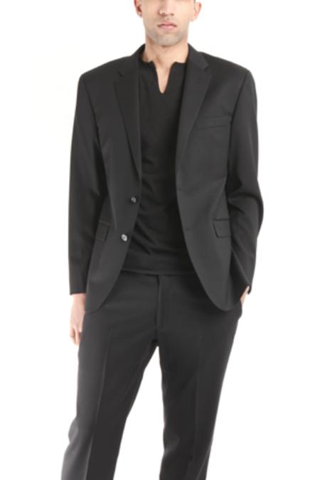 Simon Spurr Two Button Notch Twill Suit - Black