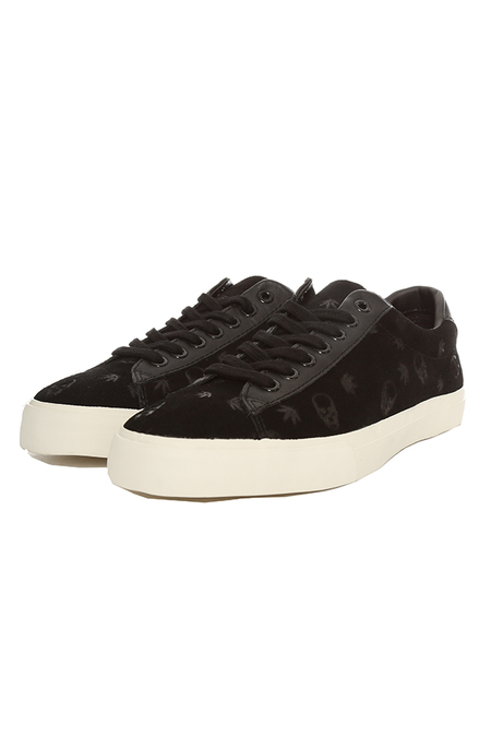 Lucien Pellat-Finet Monogram Suede Low Sneaker Shoes - Black