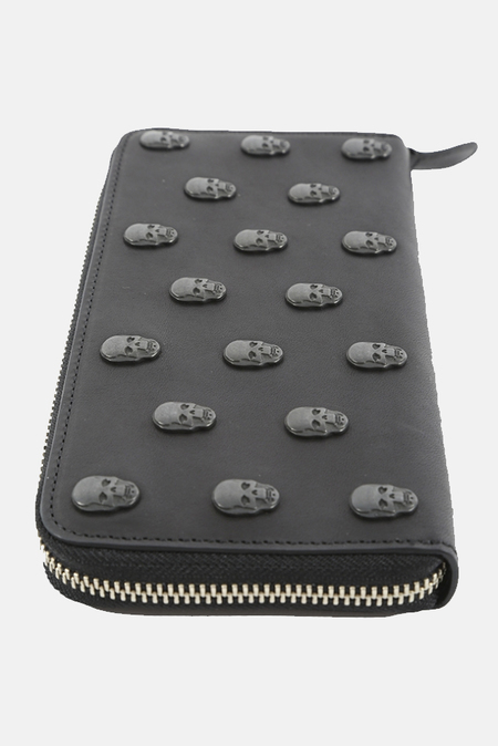 Lucien Pellat-Finet Skull Studs Long Zip Wallet - Black
