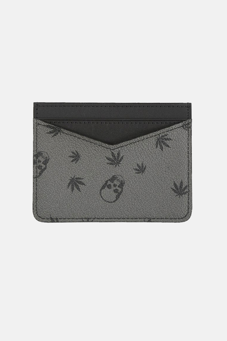 Lucien Pellat-Finet Card Case Wallet - derby Grey/Black
