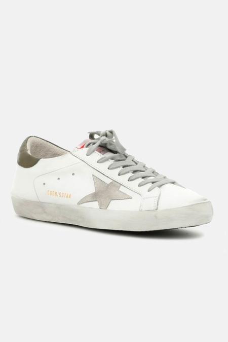 Golden Goose Superstar Sneaker Shoes - White/Military