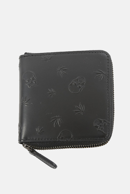 Lucien Pellat-Finet Leather Square Wallet - Black