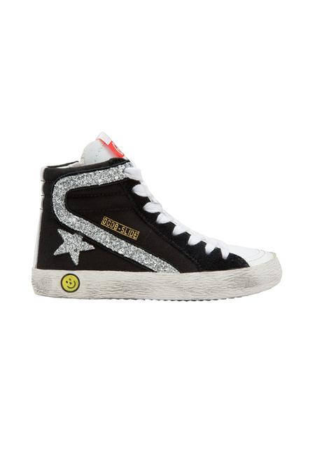 Kids Golden Goose Slide Shoes - Black