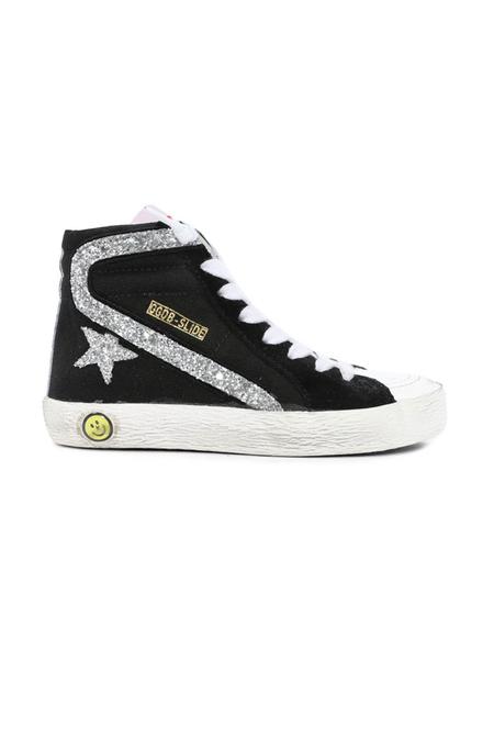 Kids Golden Goose Slide Sneaker Shoes - Black