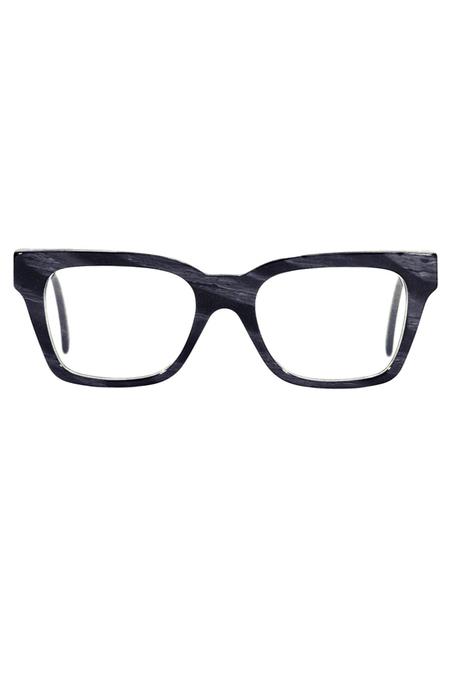 RetroSuperFuture Ciccio Black Horn Sunglasses - Black/White