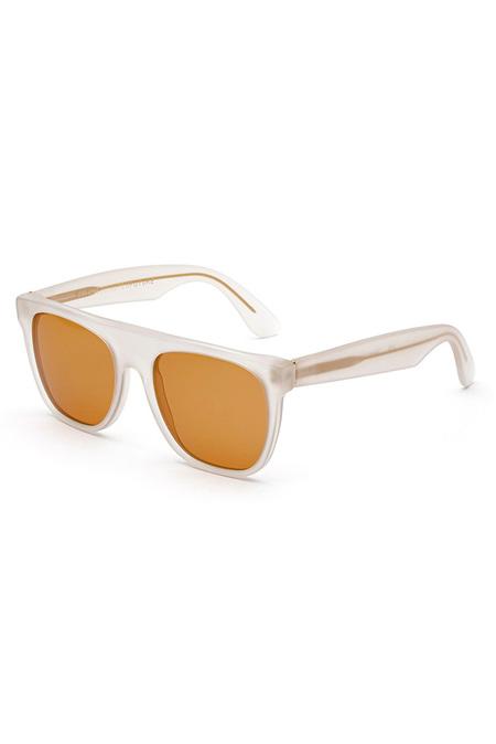 RetroSuperFuture Matte Flat Top Sunglasses - White