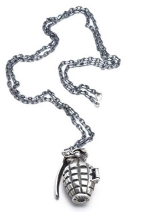 Miansai Grenade Pill Holder - Silver