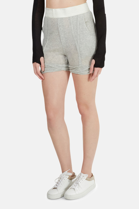 T by Alexander Wang Tencel Shorts - Heather Grey