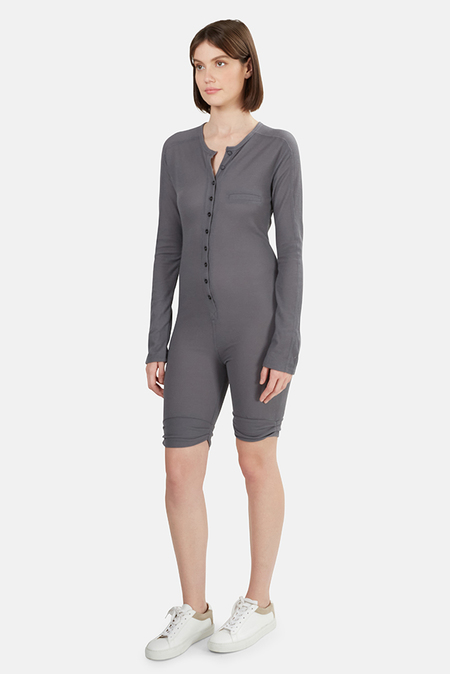 T by Alexander Wang Thermal Onesie - Charcoal