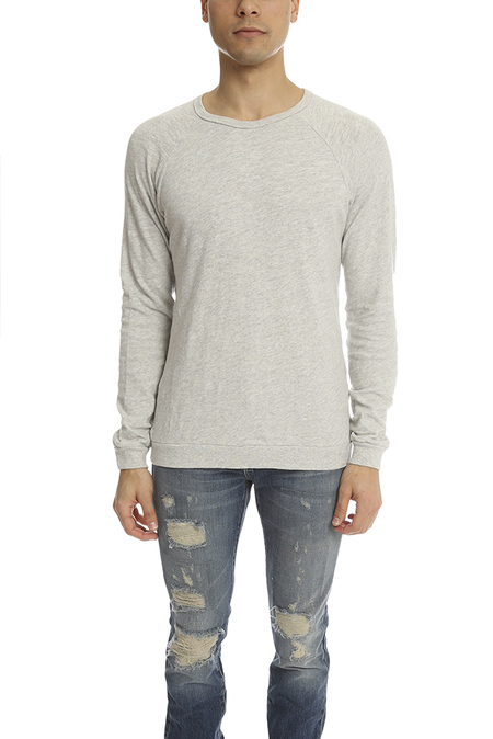 Rag & Bone Longsleeve Raglan T-Shirt - White Heather