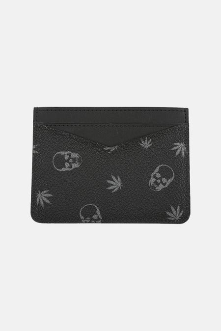 Men's Lucien Pellat-Finet Card Case Wallet - Black/Derby Grey