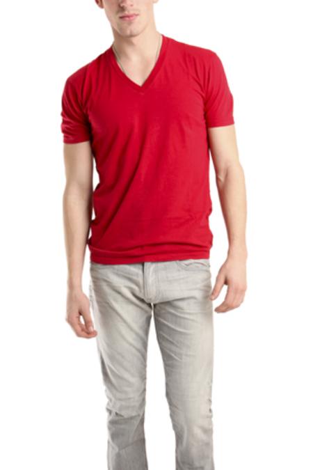 Spurr by Simon Spurr V Neck Classic T-Shirt - Red