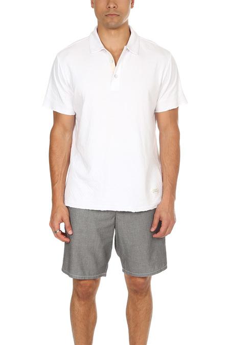 Rag & Bone Double Knit Polo Top - White