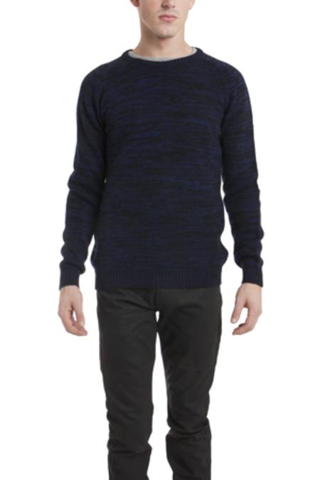 Hentsch Man Melange Sweater - Navy