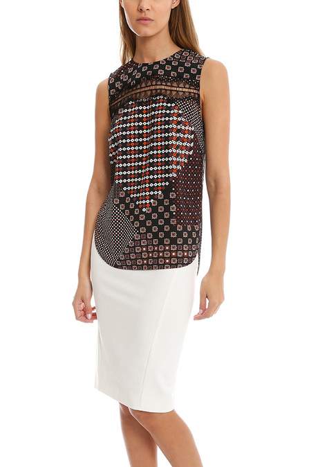 Thakoon Addition Lace Inset Tank Top - Pink multi