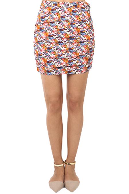 Roseanna Manson Ruched Skirt - Cherry