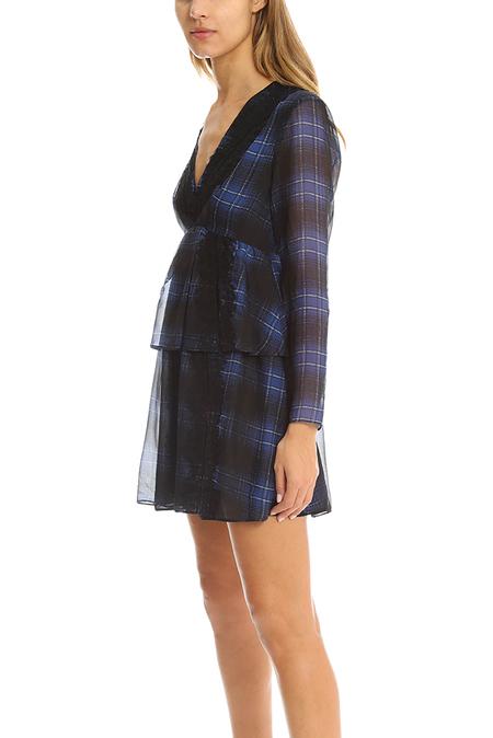 Thakoon Addition Lace Striped Dress - blue multi
