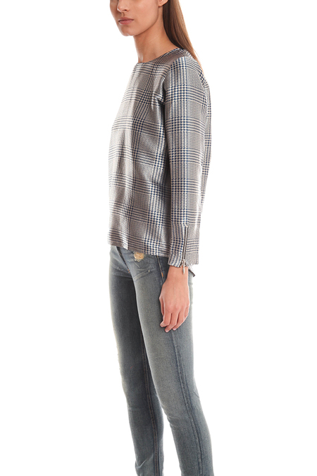 Roseanna Chase Top - Houndstooth Silver