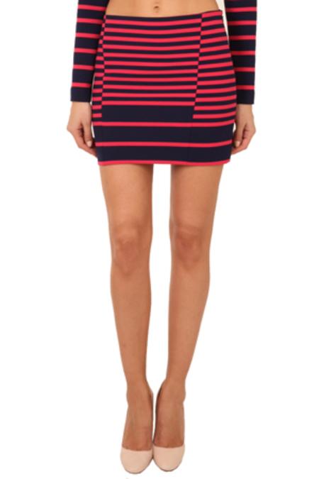 Thakoon Addition Striped Mini Skirt - Navy/Pink