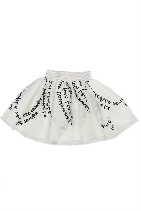 Kids Hailey Floro Tutu Pants - White