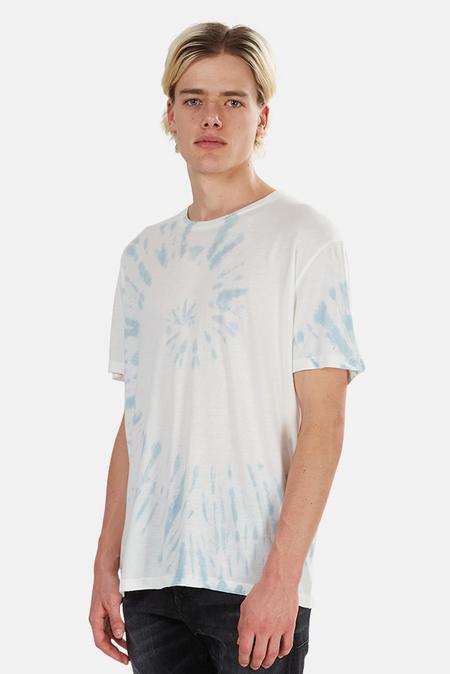 Jungmaven Tie Dye Graphic T-Shirt - White/Blue