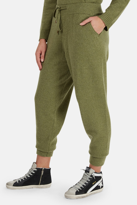 The Tile Club Pollack Cashmere Pants - Army