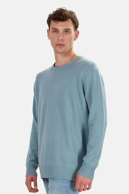 The Tile Club Oversized Cashmere Sweater - Aqua