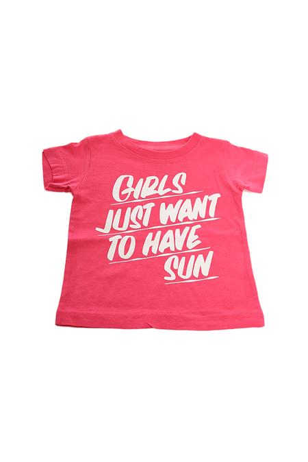 Kids Baron Von Fancy Girls Just Want to Have Sun T-Shirt - Pink