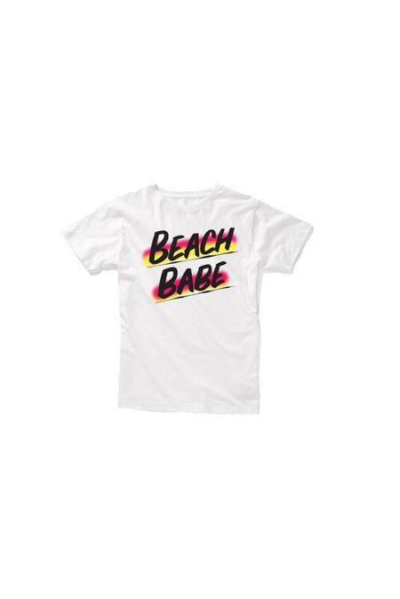 Kids Baron Von Fancy Beach Babe T-Shirt - White