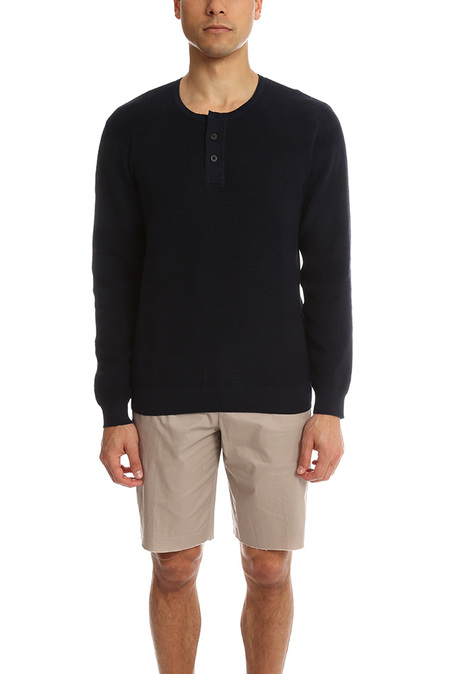 The Kooples Lightweight Sweater - Navy Black