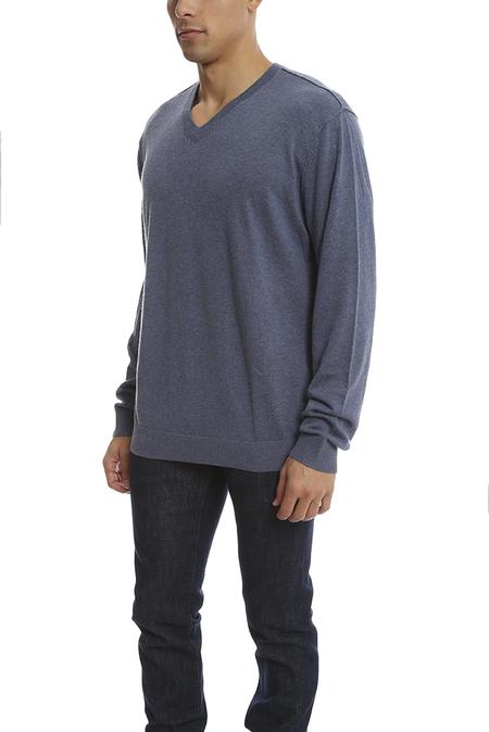 Vince V Neck Sweater - Heather Denim