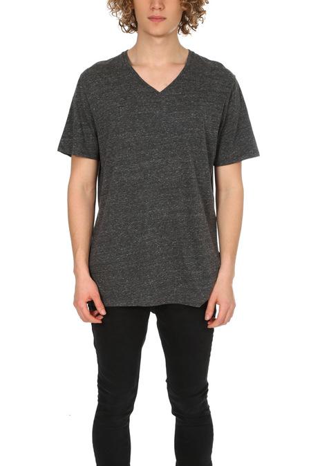 Vince V Neck Classic T-Shirt - Heather Black