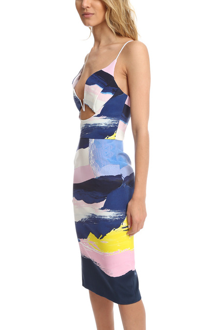 Nicholas V Wire Dress - Paint Stripe