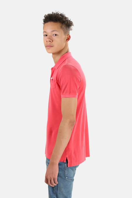V :: ROOM Pique Polo Top - washed red