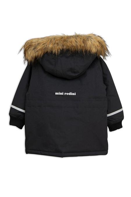 Kids Mini Rodini K2 Parka Outerwear - Black