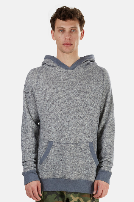 Blue&Cream Pullover Hoodie Sweater - Navy